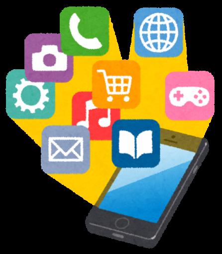 スマートフォンのアプリやメールのアイコン