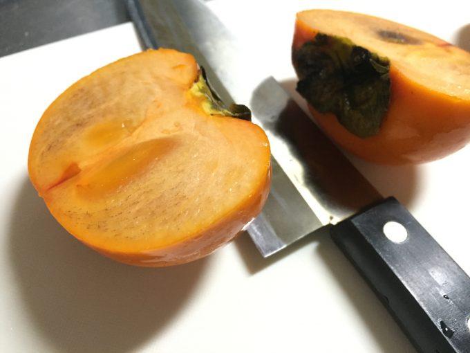 真っ二つの柿