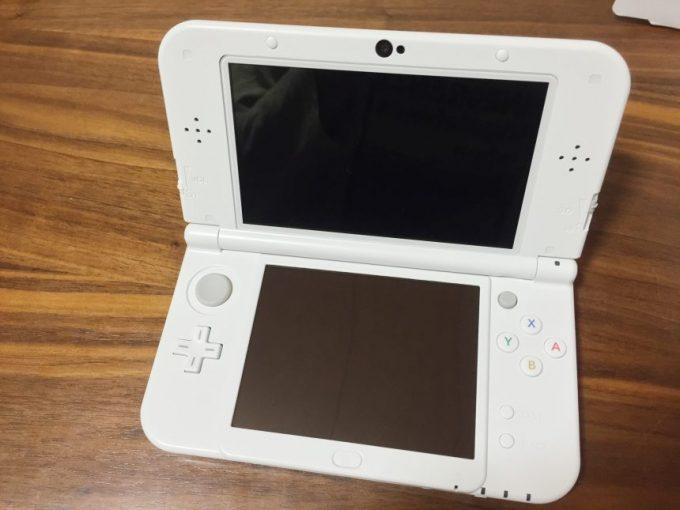 3DS LLを開けた状態
