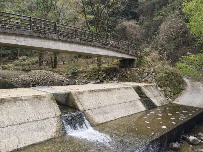 橋の下の小さなダム