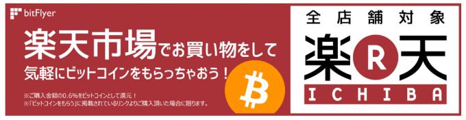 楽天市場で買い物するとビットコインがもらえるキャンペーン