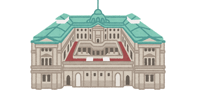 日本銀行のイラスト