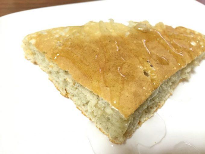九州パンケーキにオリゴ糖をかけた状態