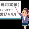 【運用実績3か月目】2017年4月 ウェルスナビ。円もドルもプラスに!