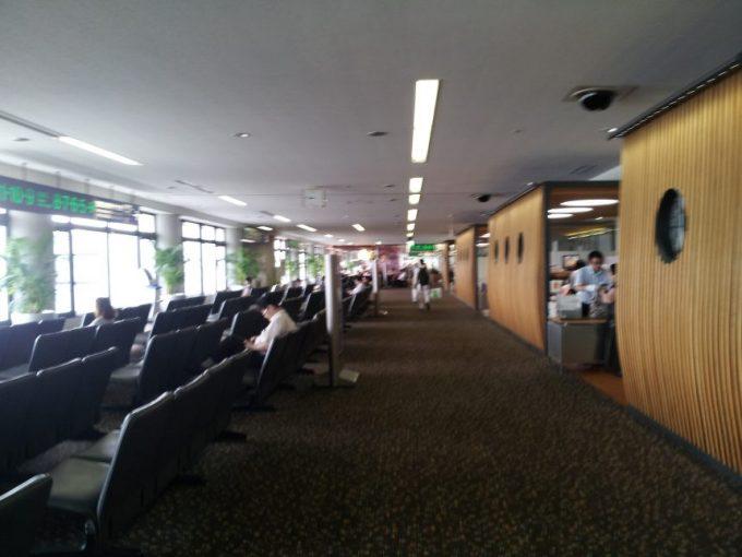 宮崎空港の待合室