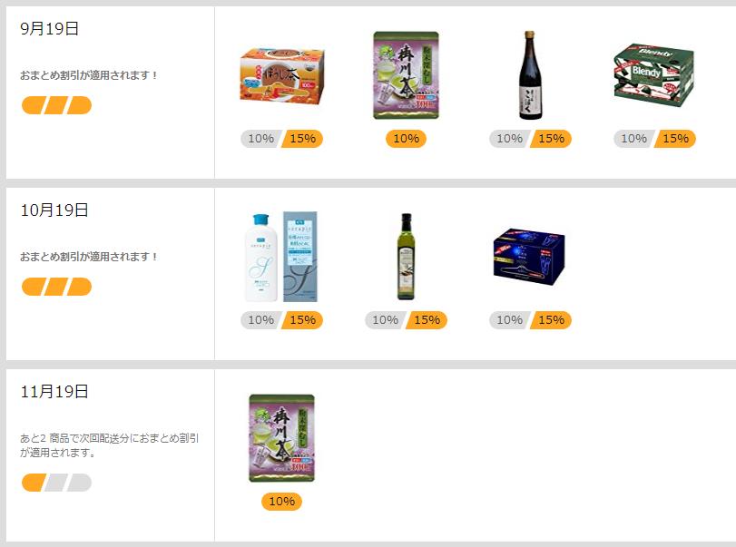 アマゾン定期お得便で注文している商品