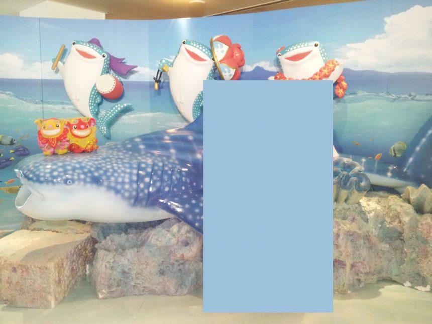沖縄美ら海水族館の中での写真撮影スポット