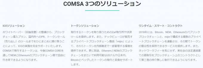 COMSA3つのソリューション(キャプチャ)