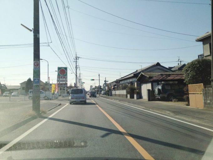 都城市、麺魂(めんそうる)の前の道路