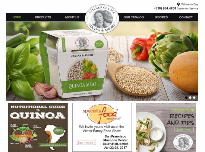 cucina&amoreのホームページ