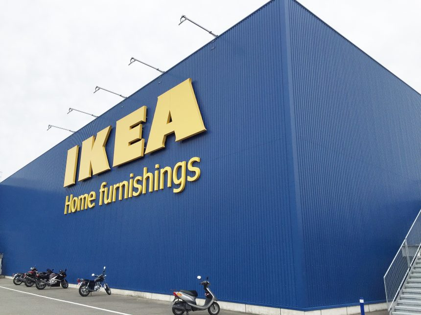 巨大なIKEAの店舗