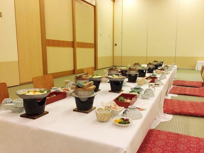 休暇村志賀島の宴会料理