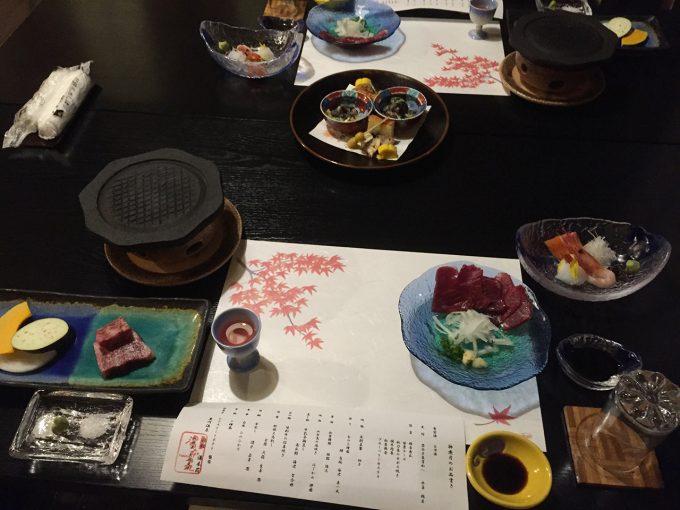 湯本荘のコース料理