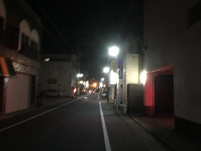 日南市の夜の飲食街