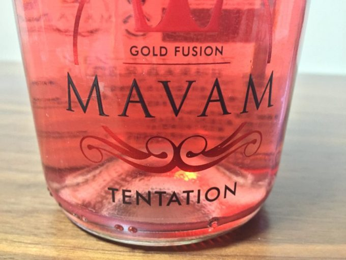gold fusion mavam tentationとかかれたボトル