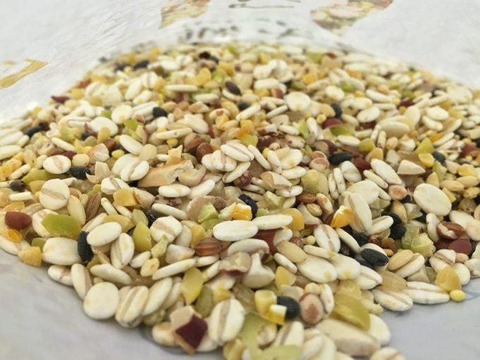 三十雑穀のアップ