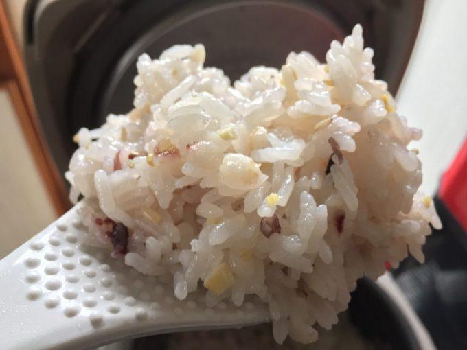 しゃもじですくった30雑穀米