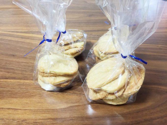 包装した強力粉クッキー