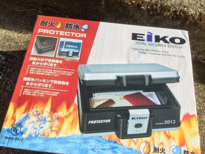 EIKO(エイコー)耐火防水プロテクターの箱