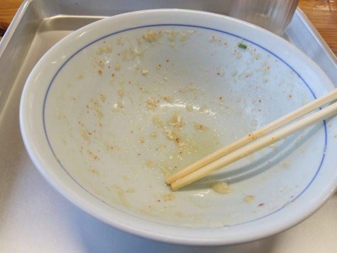食べ終わって空になった丼