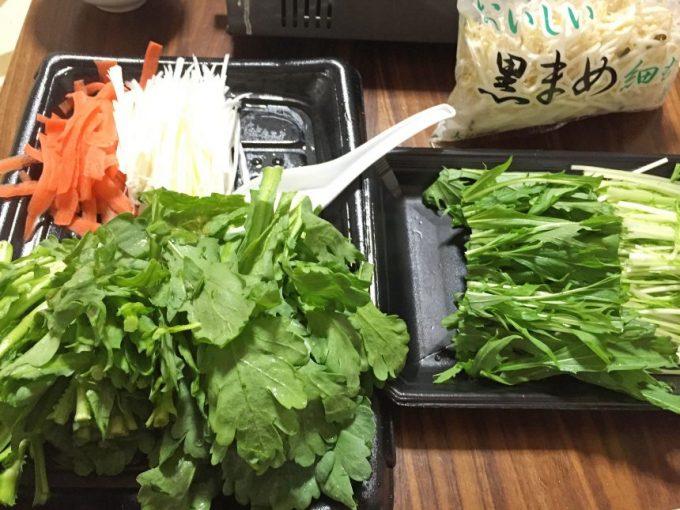 鍋用に切った野菜