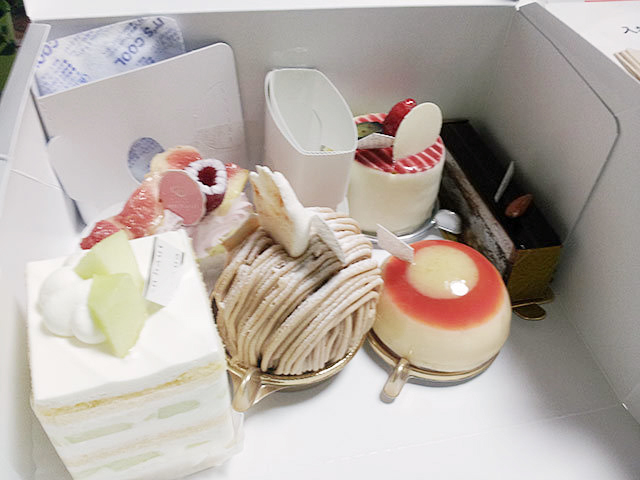 アンオーの様々な洋菓子