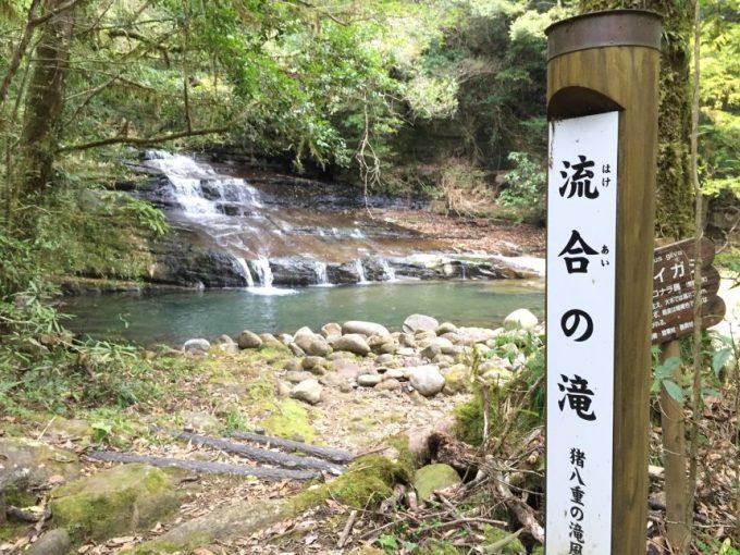 流合の滝(はけあいのたき)の看板