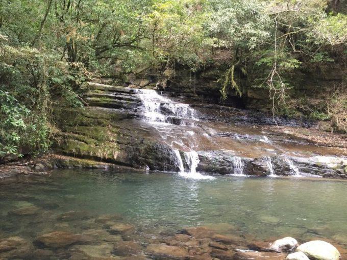 正面から見た流合の滝