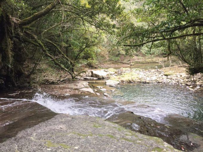 上から見下ろした流合の滝