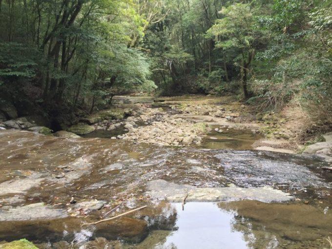 五重の滝の近くから見下ろす景色