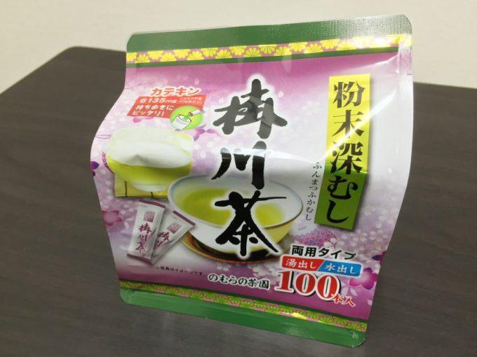 粉末深むし掛川茶のパッケージ