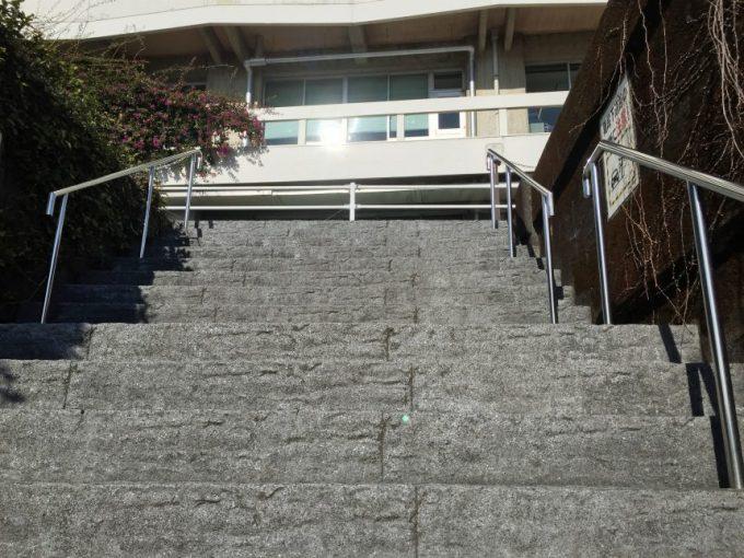 宮崎市役所裏手の階段