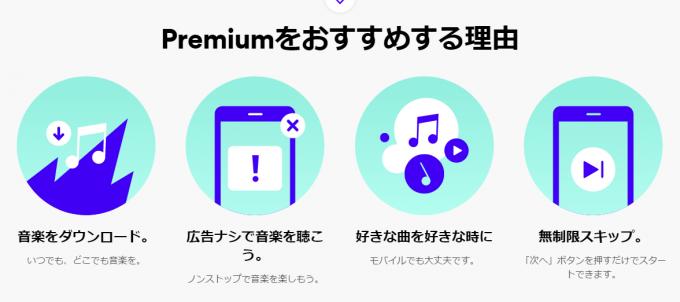 spotify premiumのおすすめポイント