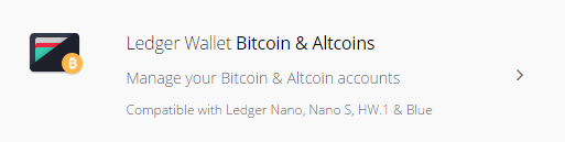 ledger-wallet-bitcoin-altcoinsアプリの説明文