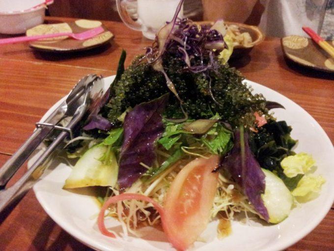 葵屋のメニュー、もずくサラダ