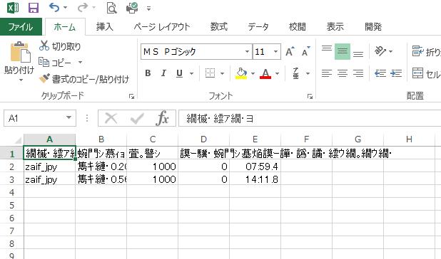 文字化けしたcsvファイル
