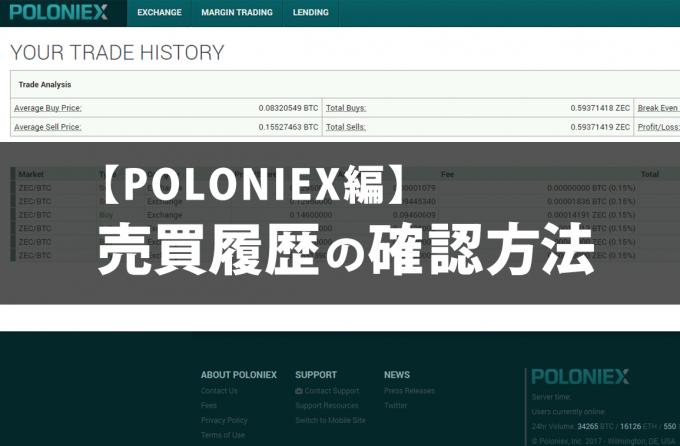 【POLONIEX編】売買履歴の確認方法