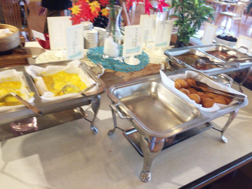 休暇村志賀島のビュッフェ形式の朝食