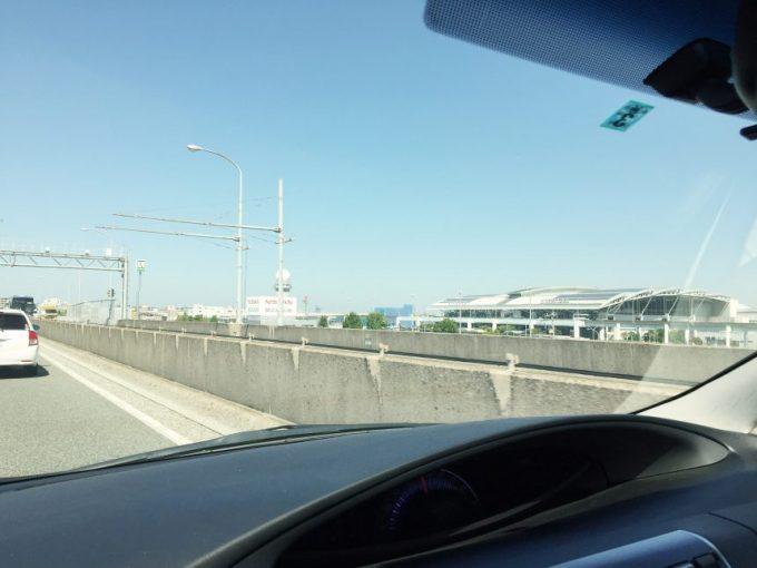 福岡都市高速から撮影した福岡空港