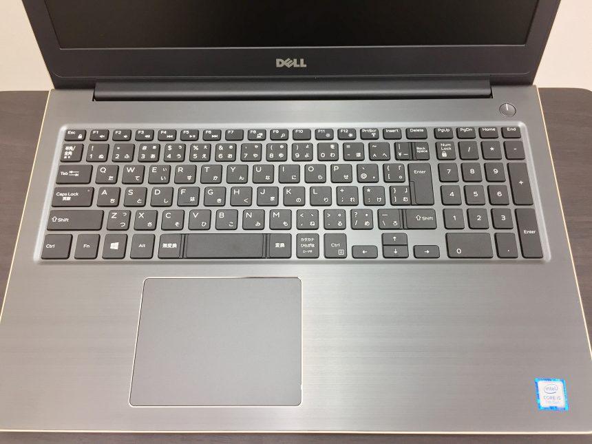 高級感のあるアルミヘアライン加工のキーボード面