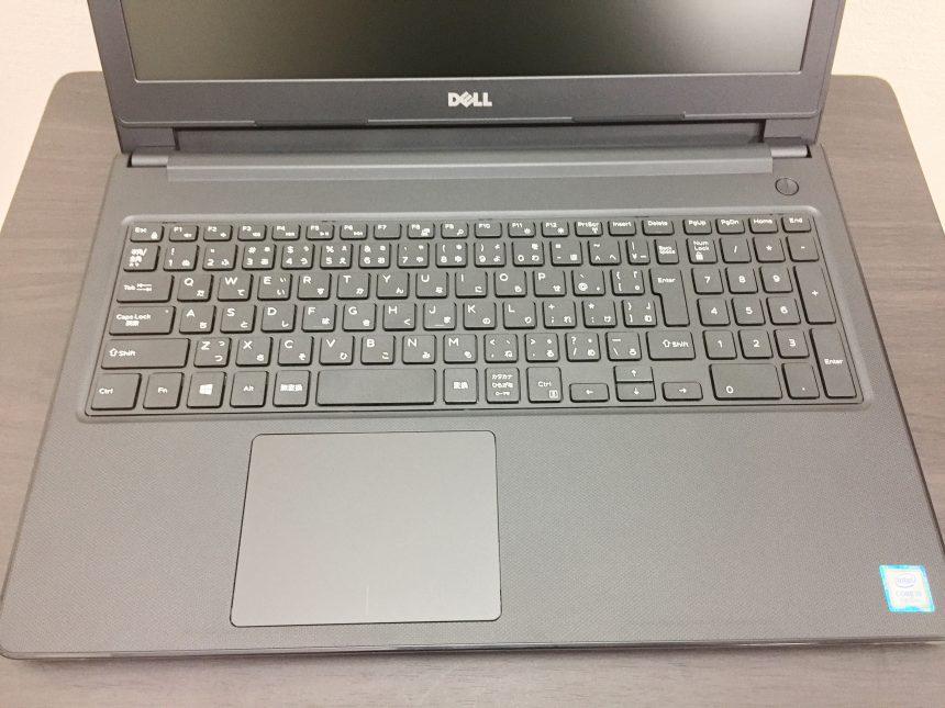 Dell vostro15-3000-3568のキーボードとトラックパッド
