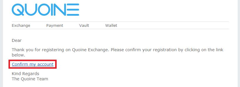 メールに届いた確認URL