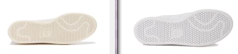 スタンスミス(オリジナル vs ABCモデル)ソール面画像比較