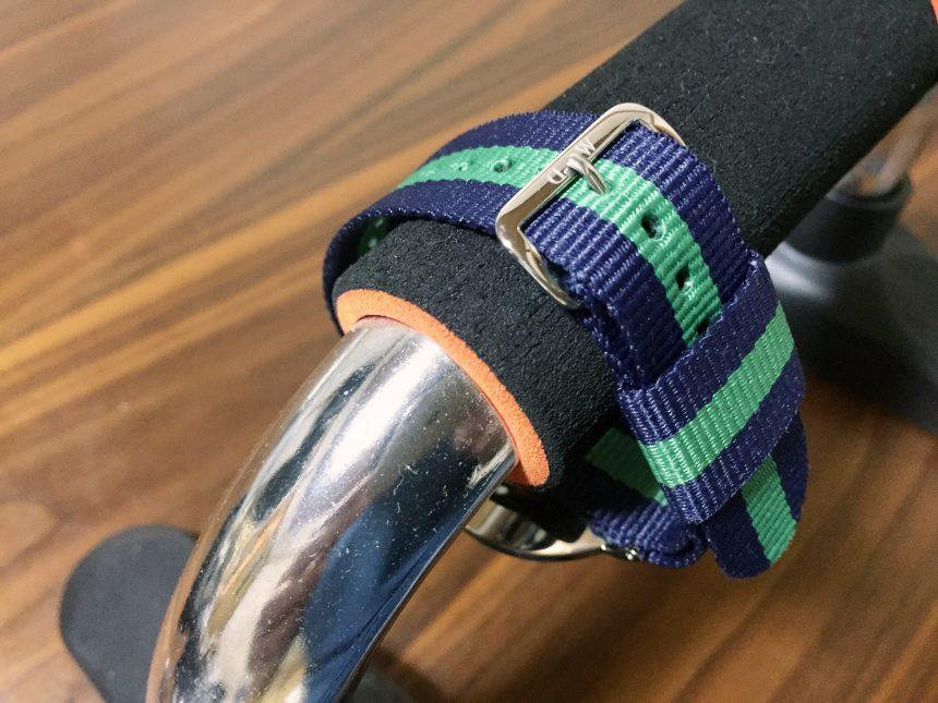 NATOベルトをつけて増した部分を撮影した画像