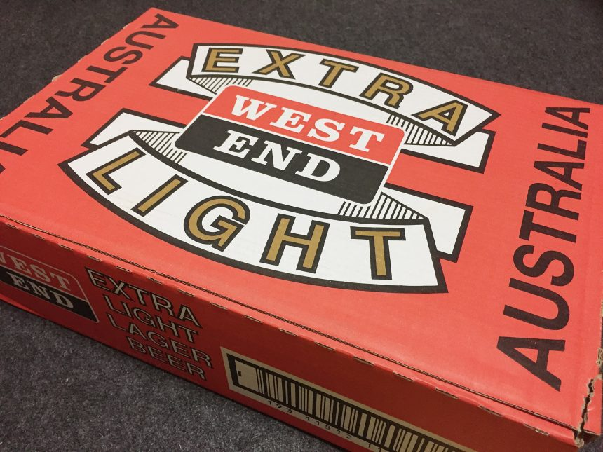 WEST END EXTRA LIGHT のケース段ボール