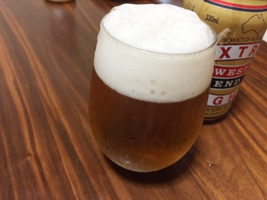 グラスに注ぎ終わったウエストエンド