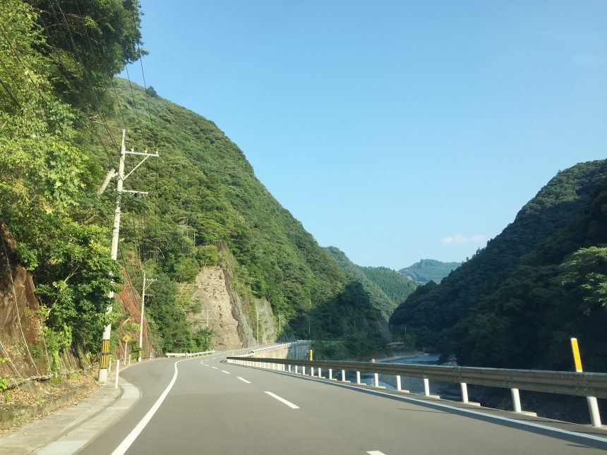 宮崎市方面へ向けて帰る道のり。