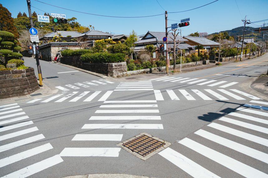 日本一小さなスクランブル交差点がある飫肥城下町