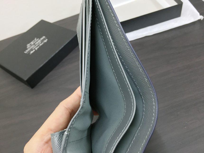 財布のお札入れを開いてみたの図