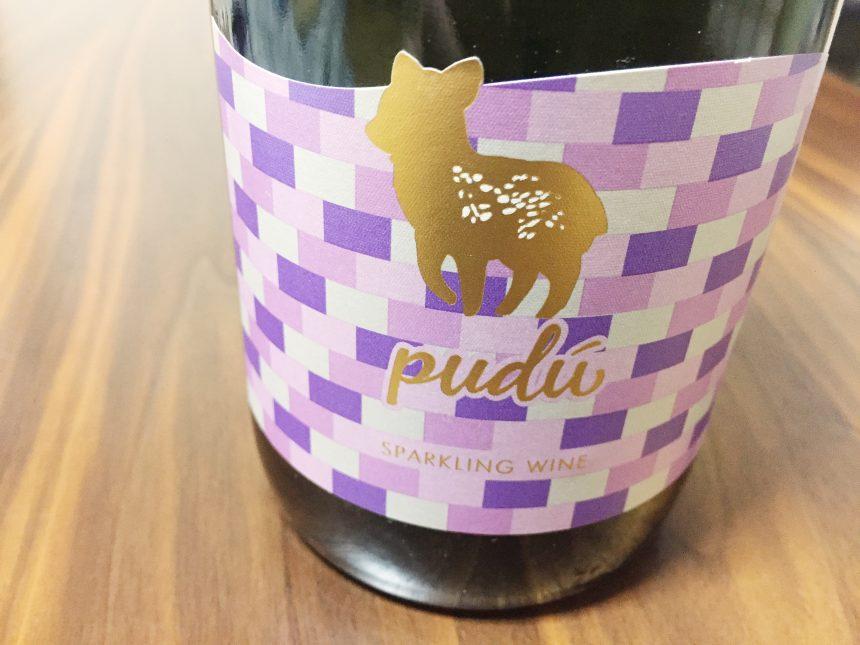 puduスパークリングワインのかわいらしいラベル